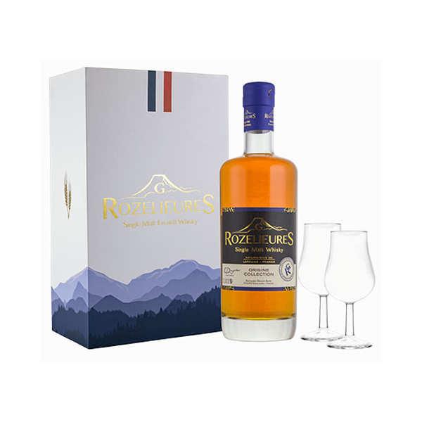 Whisky G-Rozelieures Whisky Rozelieures - Coffret Origine 2 verres 40% - Coffret 70cl + 2 verres