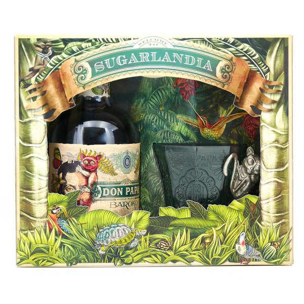 Bleeding heart rum company Coffret cadeau Don Papa Baroko 1 verre - Coffret bouteille 70cl + 1 verre