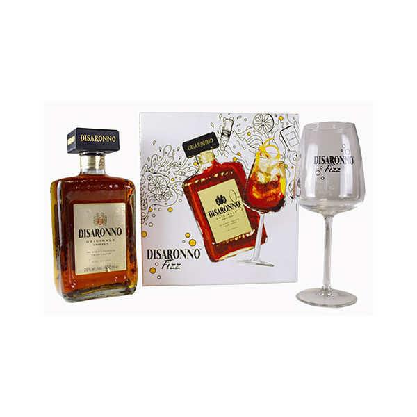 Disaronno Originale Coffret cadeau Amaretto Disaronno Fizz 1 verre - Coffret 1 bouteille 50cl + 1 verre