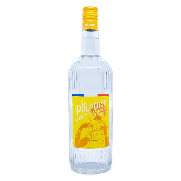 La Mentheuse Crème de citron (Limoncello) - La Pulpeuse 15% - Bouteille 1L