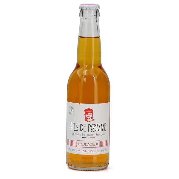 Fils de Pomme Cidre bio L'Audacieux Yuzu et basilic - Fils de Pomme - 12 bouteilles de 33cl