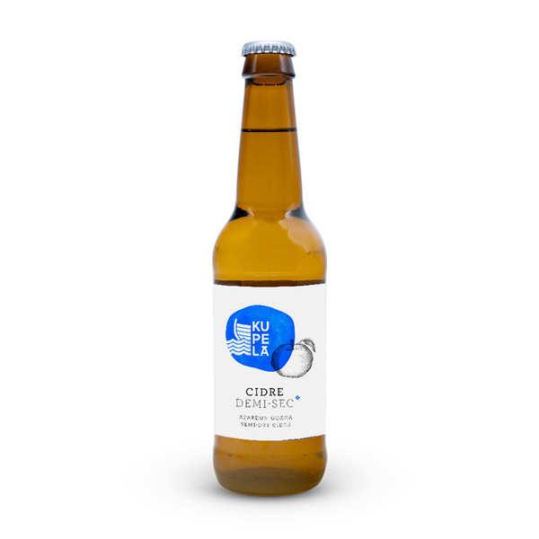 Topa Cidre Kupela Basque Cider - Cidre demi-sec artisanal du Pays Basque - Bouteille de 33cl
