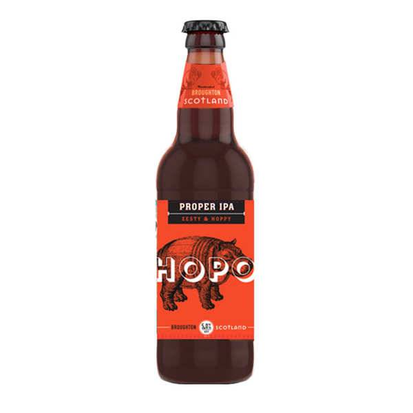 Broughton Ales Hopo Proper IPA Broughton Ales - Ale Ecossaise (Lowlands) - 5% - 4 bouteilles de 50cl