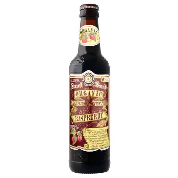 Samuel Smith Brewery Samuel Smith Organic Raspberry - Bière blanche fruitée anglaise bio 5,1% - Bouteille de 35,5cl