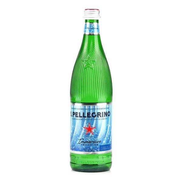 San Pellegrino - Eau minérale gazeuse d'Italie en bouteille verre - 6 bouteilles de 75cl