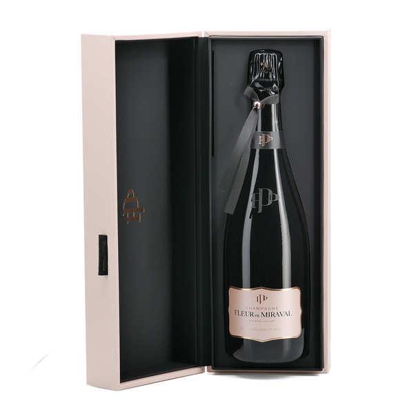 Miraval Fleur de Miraval - Champagne rosé - Bouteille de 75cl et son coffret