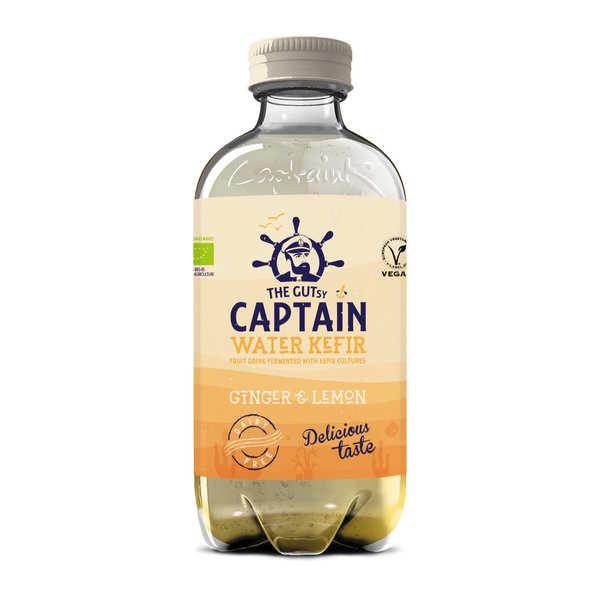 The Gutsy Captain Kombucha Kéfir d'eau bio Gingembre Citron - Captain Kombucha - 3 bouteilles de 40cl