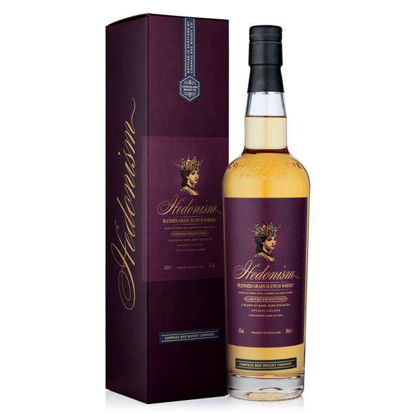 Compass Box Whisky Hedonism - Whisky de grain - 43% - Bouteille 70cl et son étui