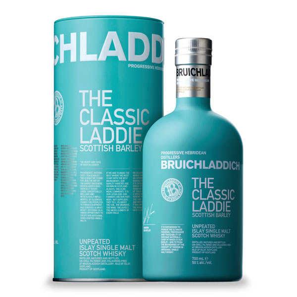 Bruichladdich Whisky Bruichladdich the classic Laddie Scottish barley - 46% - Bouteille 70cl en tube métal