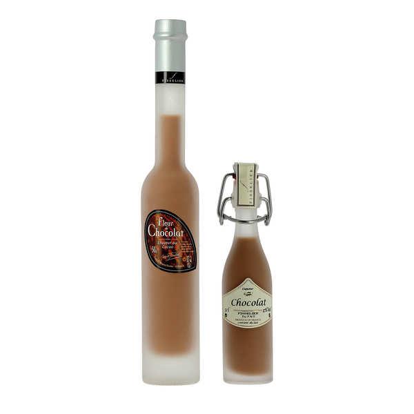 Liqueurs Fisselier Fleur de chocolat - Crème de liqueur au cacao - 17% - Mignonnette 4cl