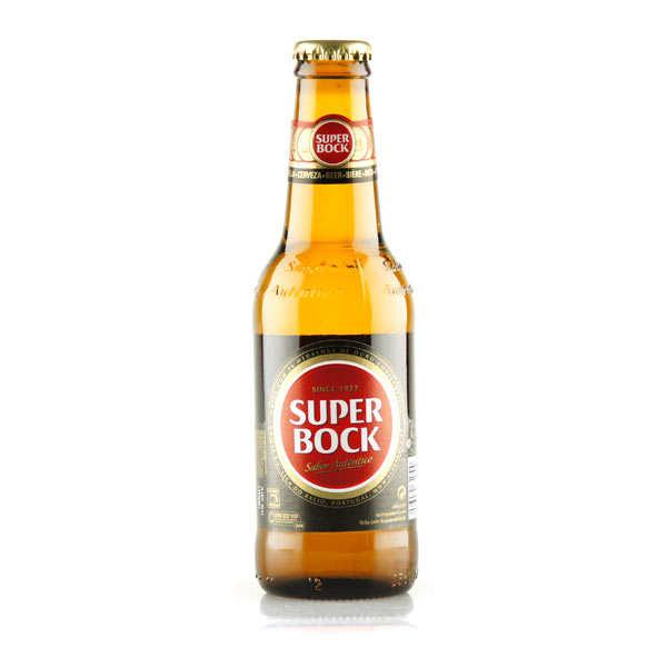 Unicer Super Bock - Bière Blonde Portugaise 5,2% - Lot 24 bouteilles 25cl