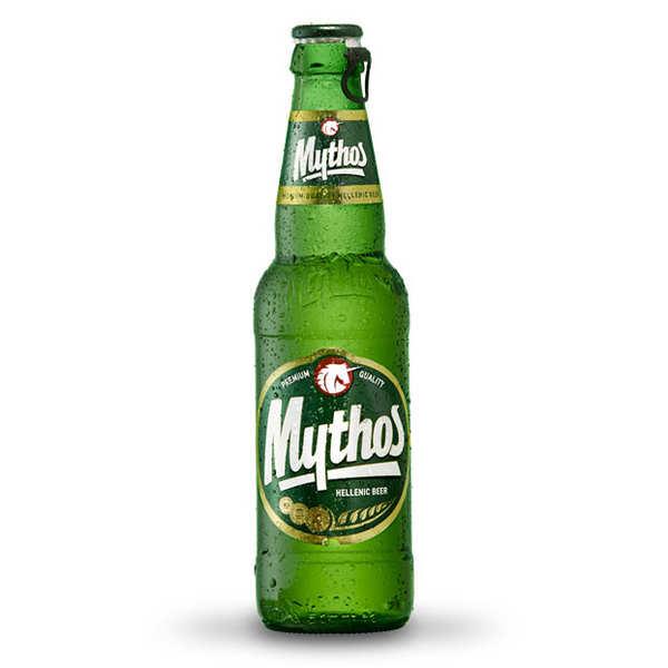 Mythos Breweries Mythos - Bière Blonde Grecque - 4,7% - Lot 24 bouteilles 33cl
