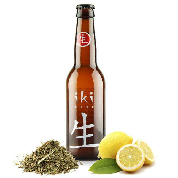 Brasserie iKibeer Iki Beer - Bière bio au thé vert et yuzu 4,5% - Lot 24 bouteilles 33cl
