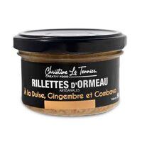 Christine Le Tennier Rillettes d'ormeau à la dulse, gingembre et combava - bocal de 90g <br /><b>7.4 EUR</b> BienManger.com