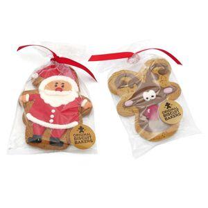 Image on food Père Noël en pain d'épices glacé - Biscuit père Noël 75g - Publicité