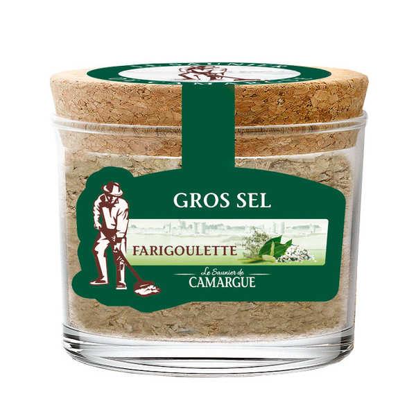 Les Saunier de Camargue Sel de Camargue aromatisé thym et laurier - Farigoulette - Pot 190g