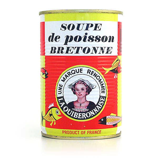 La quiberonnaise Soupe de poissons artisanale Bretonne - Lot 5 boites de 410 g + 1 offerte