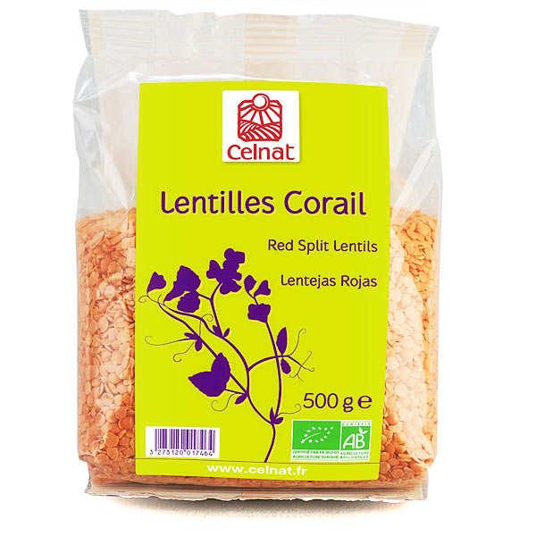 Celnat Lentilles corail bio - 3 sachets de 500g