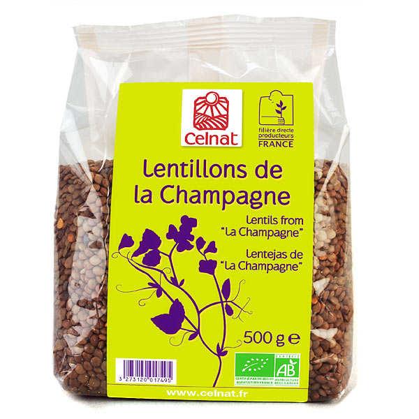 Celnat Lentillons de Champagne bio - Lot de 5 sachets 500g