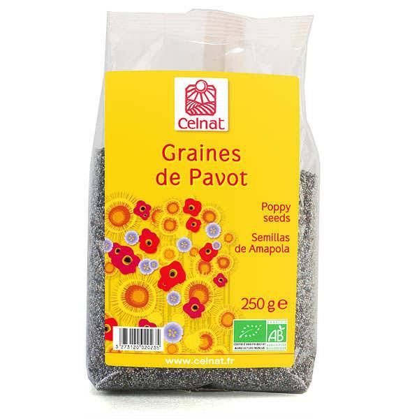 Celnat Graines de pavot bio - 3 sachets de 250g