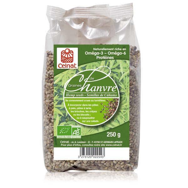Celnat Graines de Chanvre Bio Celnat - Sachet 250g