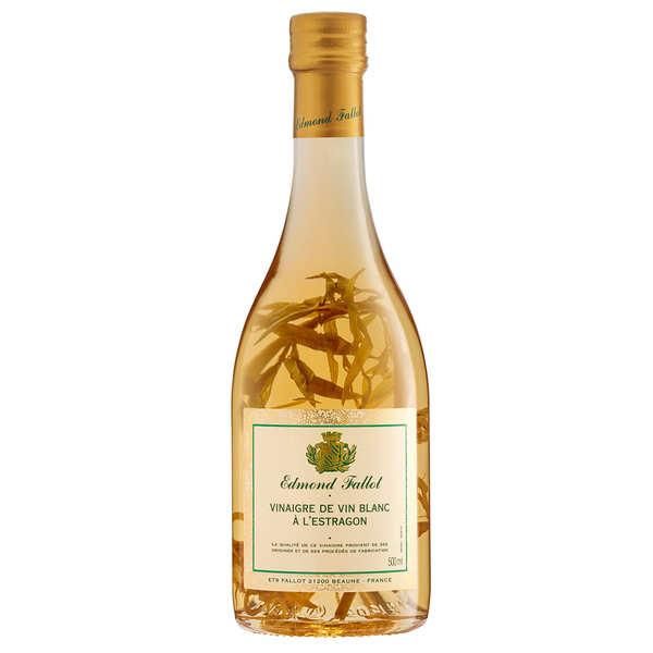 Fallot Vinaigre de vin blanc à l'estragon - 3 bouteilles verre de 500ml