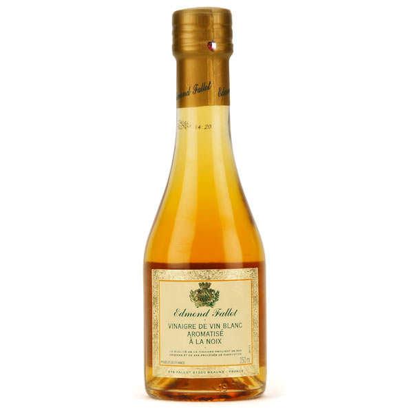 Fallot Vinaigre de vin blanc aromatisé à la noix - Bouteille verre 250ml
