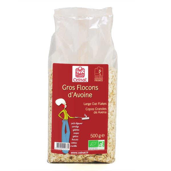 Celnat Gros flocons d'avoine Bio - Lot 4 sachets de 500g