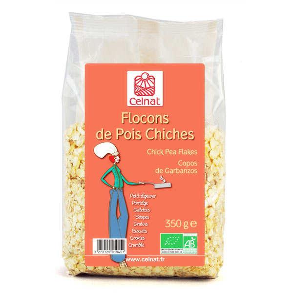 Celnat Flocons de pois chiches Bio - Sachet 350g