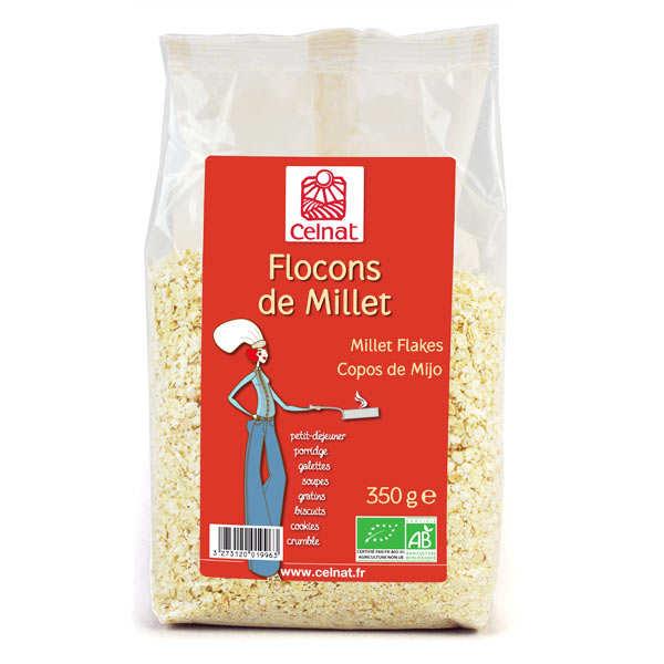 Celnat Flocons de millet bio - 12 sachets de 350g