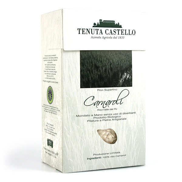 Tenuta Castello Riz long luxe superfino Carnaroli bio émondé main - spécial risotto - Sac 1kg