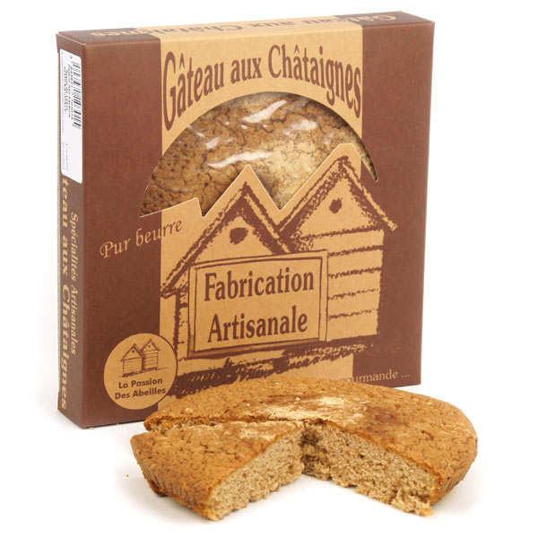 La Passion des Abeilles Gâteau aux châtaignes pur beurre BIO - Gâteau 220g