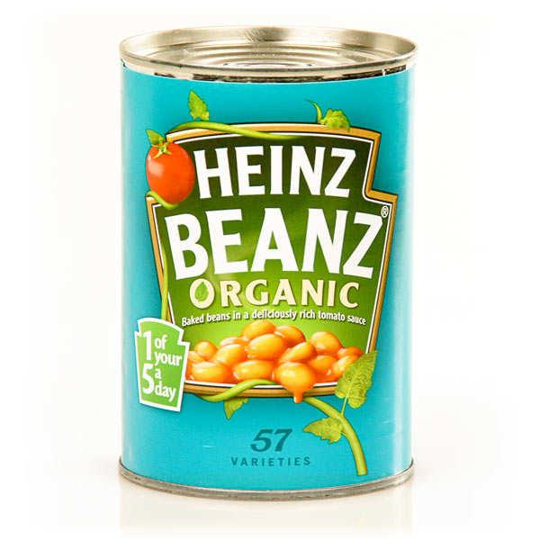 Heinz Baked beans bio - Haricots blancs à la sauce tomate - Boîte 415g
