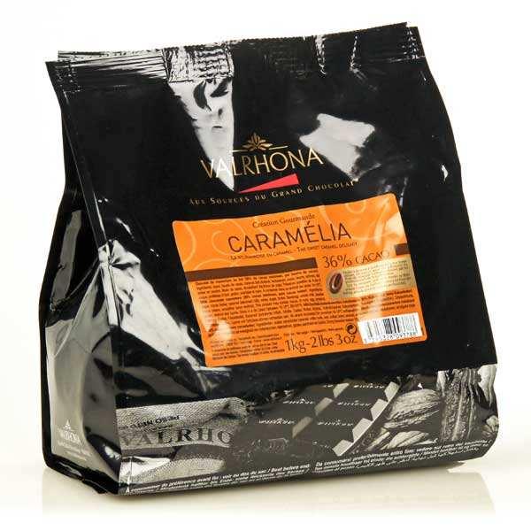Valrhona Chocolat caramel de couverture Valrhona en fèves Caramélia - Sachet 1kg