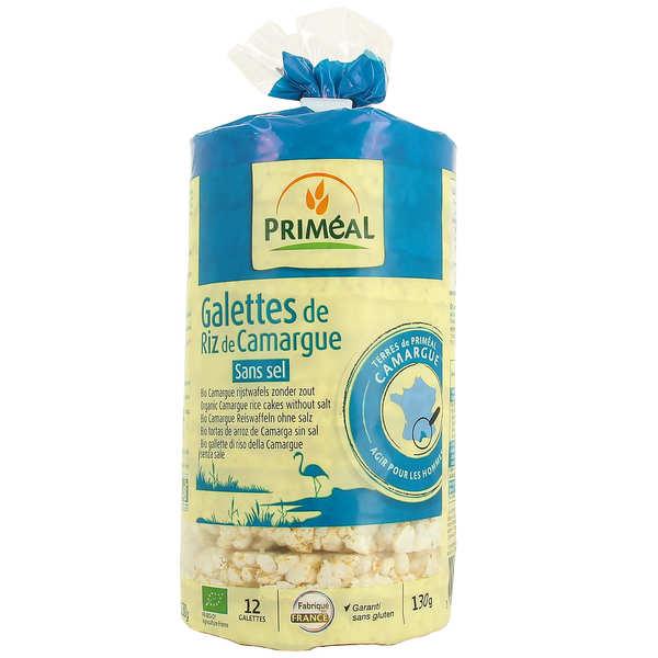 Priméal Galettes de riz de Camargue sans sel et sans gluten Bio - Sachet 130g