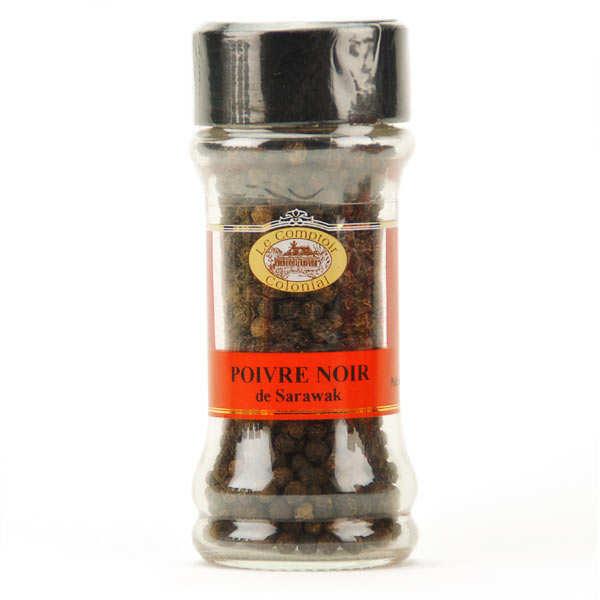 Le Comptoir Colonial Poivre noir Sarawak en grains - Pot 50g