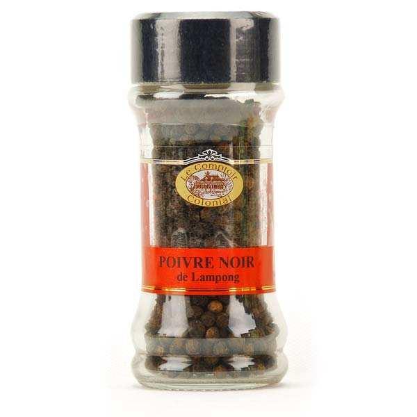Le Comptoir Colonial Poivre noir Lampong en grains - Pot 50g
