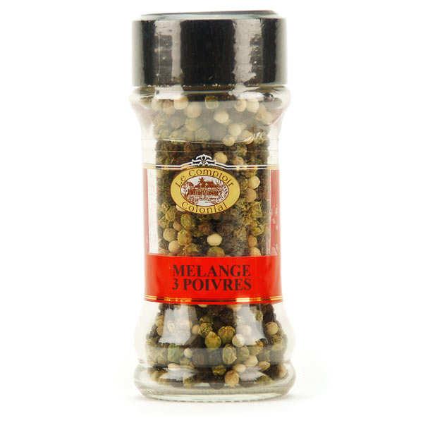 Le Comptoir Colonial Mélange 3 poivres (grains) - Pot 40g