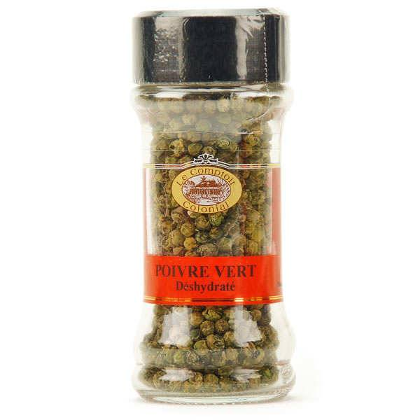 Le Comptoir Colonial Poivre vert deshydraté en grains (origine Inde) - Pot 30g