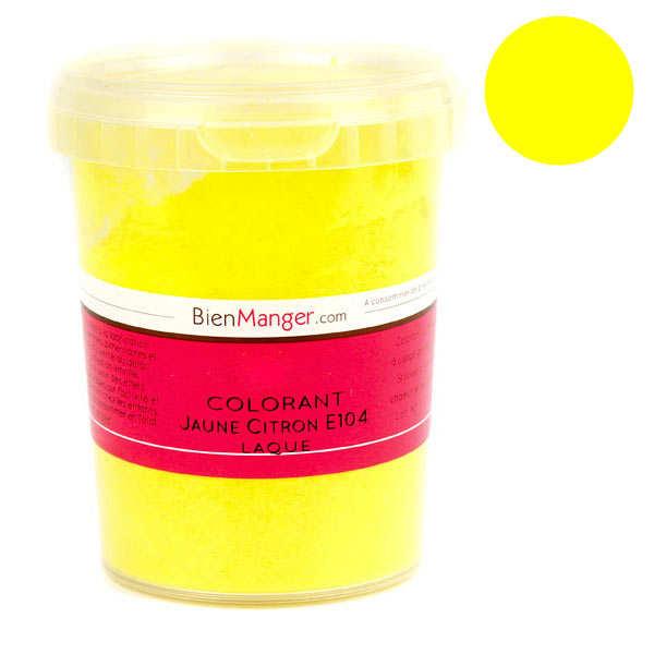 BienManger aromes&colorants Colorant alimentaire jaune citron E104 - Poudre liposoluble - Pot 100g