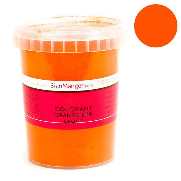 BienManger aromes&colorants Colorant alimentaire orange E110 - Poudre liposoluble - Pot 100g