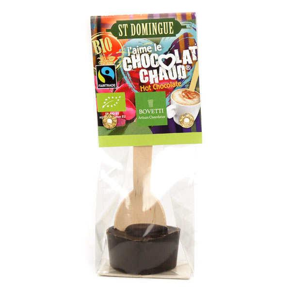 Bovetti chocolats Bâtonnet pour boisson chocolatée - Chocolat noir St Domingue Bio - 5 bâtonnet de 35g