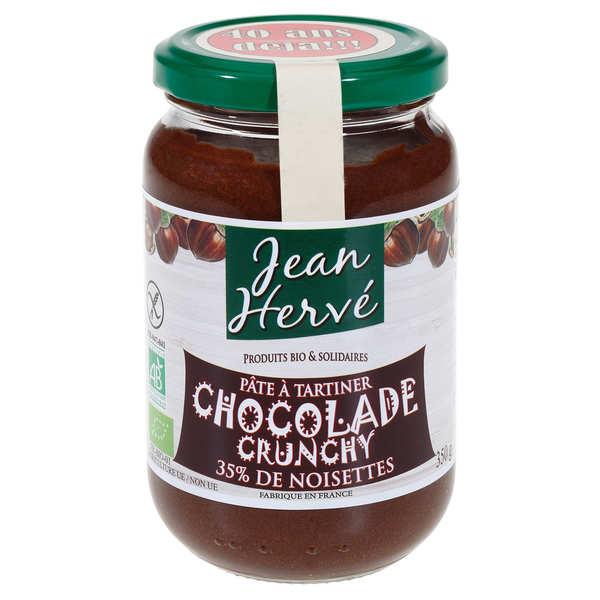 Jean Hervé La Chocolade crunchy  - Pâte à tartiner bio - Pot 350g