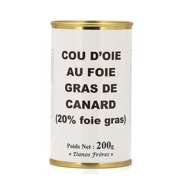 Danos Frères Cou d'oie farci au foie gras de canard - 2 boîtes de 200g