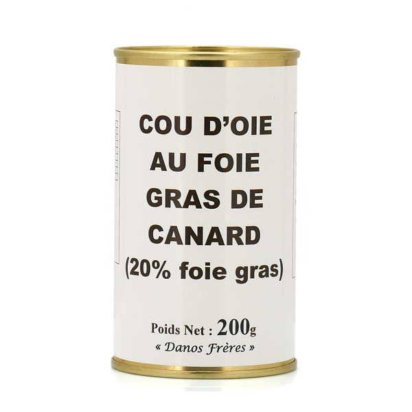 Danos Frères Cou d'oie farci au foie gras de canard - boîte de 200g