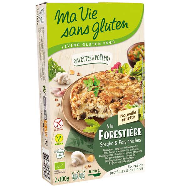Ma vie sans gluten Galettes prêtes à poêler champignons pois chiches bio sans gluten - Etui 2x100g