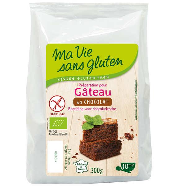 Ma vie sans gluten Préparation sans gluten pour gâteau au chocolat bio - Sachet 300g