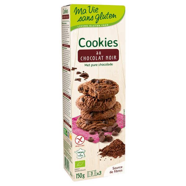 Ma vie sans gluten Mini cookies au chocolat bio sans gluten - Lot de 4 paquets 150g