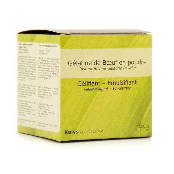 Kalys Gastronomie Gélatine de boeuf en poudre soluble à froid - Boite 100g