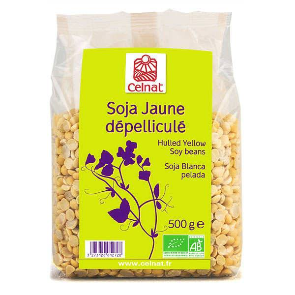 Celnat Soja jaune dépelliculé bio - Lot 4 sachets de 500g